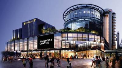 NEW SINGPOST  CENTRE,  SINGAPORE  RE-OPENS