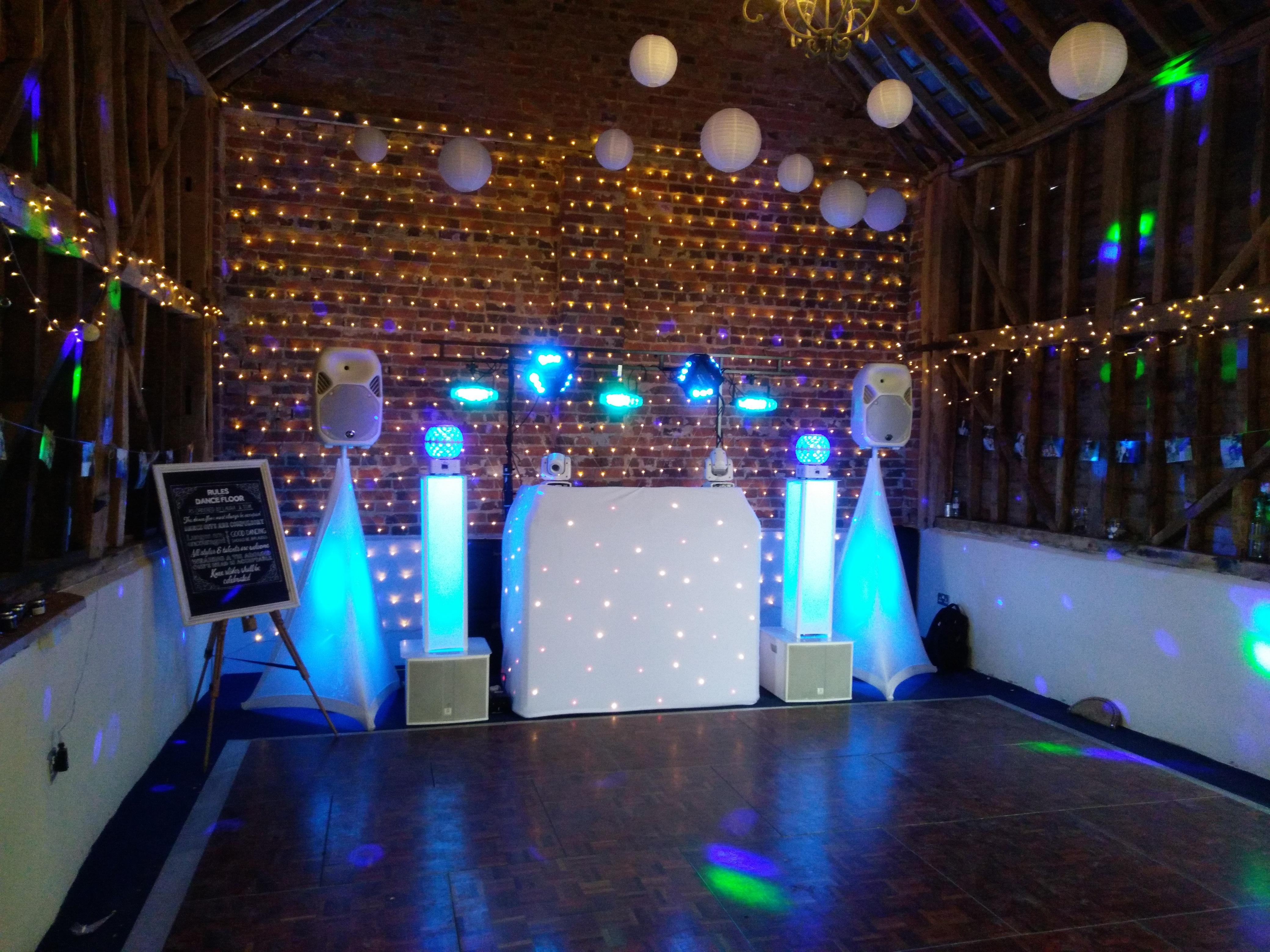 A cosy barn wedding