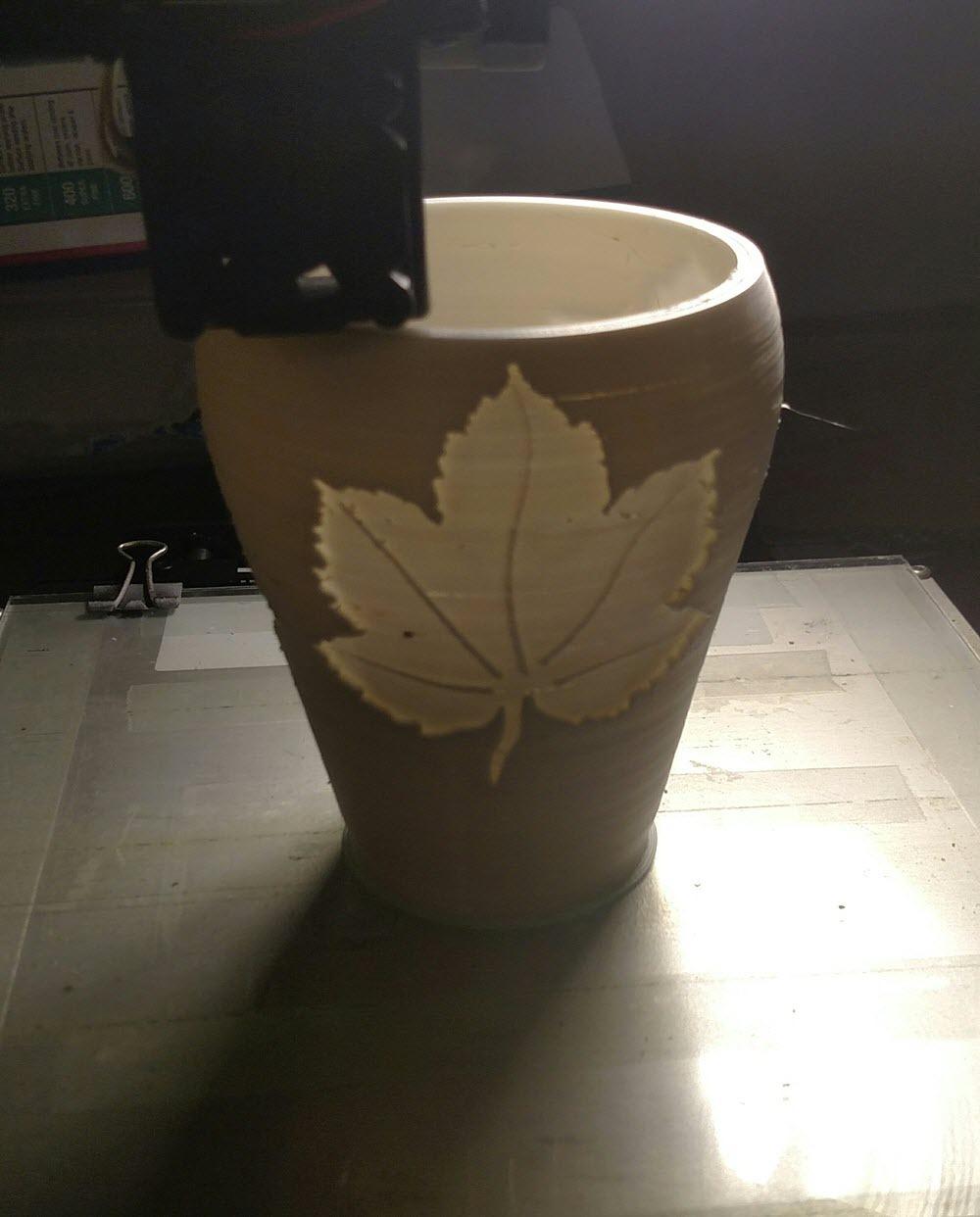 Vase being printed