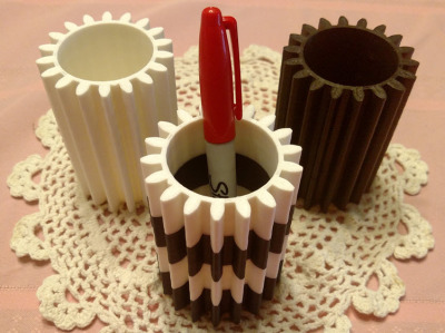 Gear Pencil Holder
