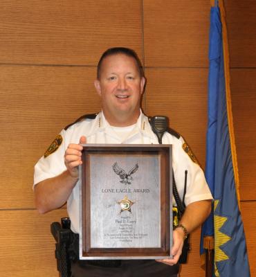Cass Sheriff  Recipient of NDPOA Lone Eagle Award
