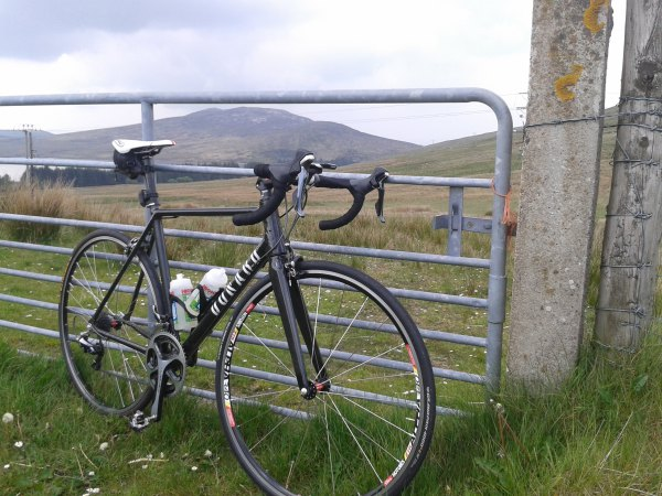 Donard Bike on the road in the Mourne Mountains