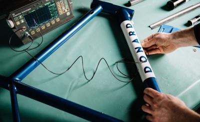 Ultrasound scanning a carbon bike frame