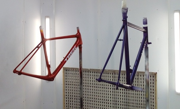 Completed and painted Donard Carbon and Steel Framesets