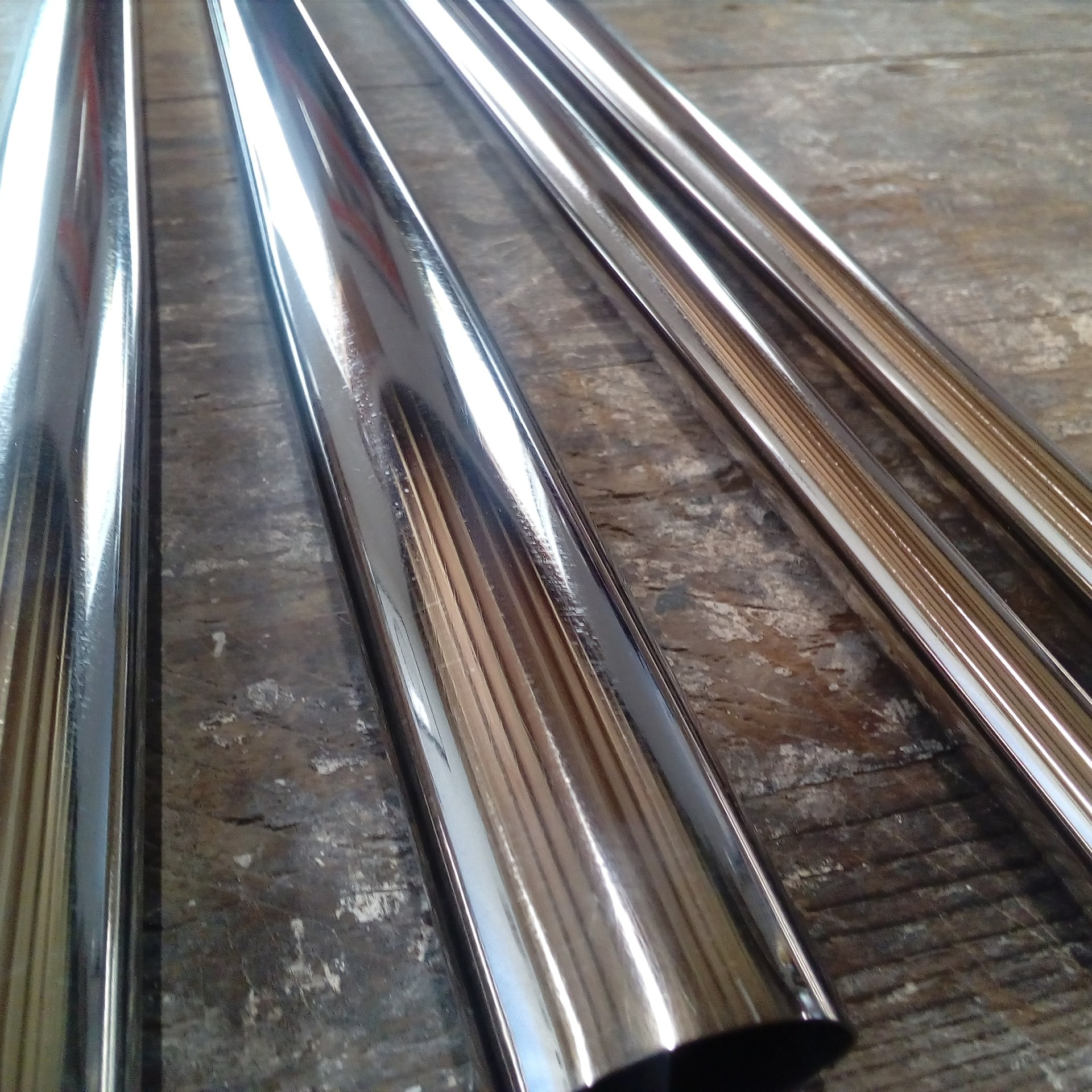 Polished Reynolds 953 Stainless tubing