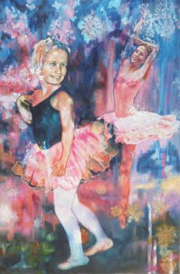 #saatchiart#childhood,#oilpainting,#ballet,#dancer,#art,#fineart#ballerina