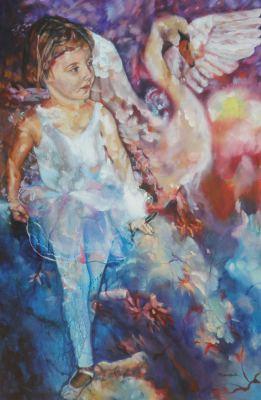 #saatchiart#ballerina#swan#bird#birds#dance#fineart#art