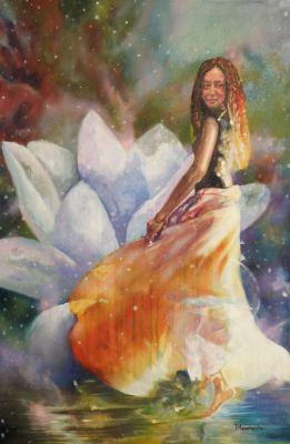 #saatchiart#cinderella#dance#dancing#flowers#waterlily#dress#happiness#joy