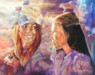 #saatchiart#relationships#light#clouds#mothers#daughters#smiling