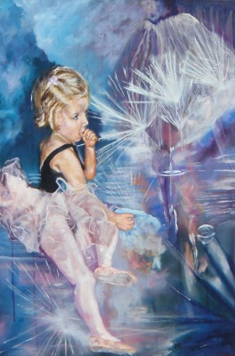 #saatchiart/pjlenorovitz#mixedmedium#childhood#ballerina#dance#children