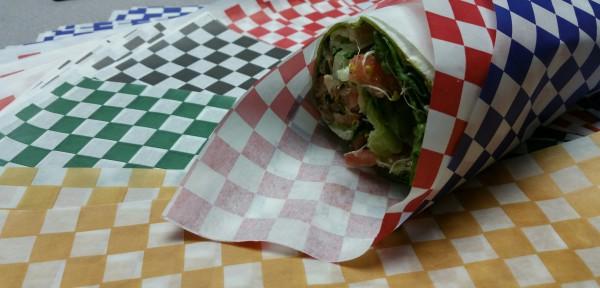 Deli wrap, sandwich wrap, custom food wrap