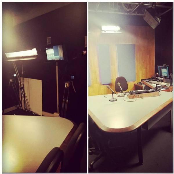 Inside the television studio