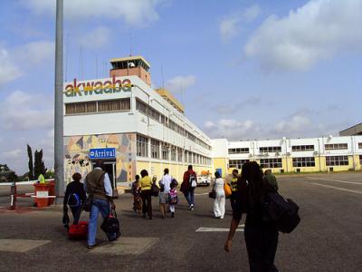 Arrive in Ghana