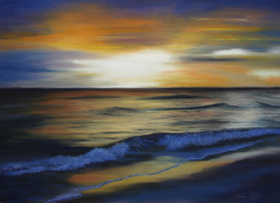 """Sunset Waves on Longboat Key"""