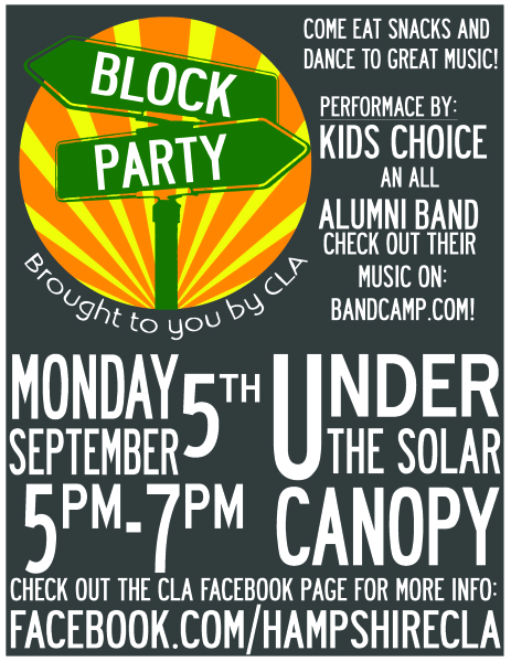 Block Party Event Poster