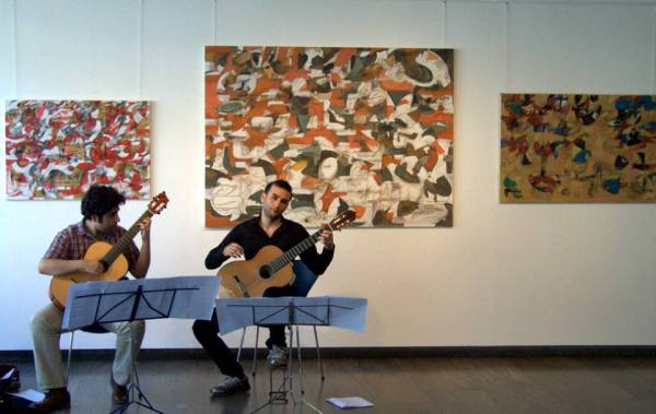 Gagik Babayan Solo Exhibition and Armenian Guitar Duo  Areg Hakobyan, Van Sarkissian Heidelberg, Germany Music event and collaboration organized by Progressive Art Agency