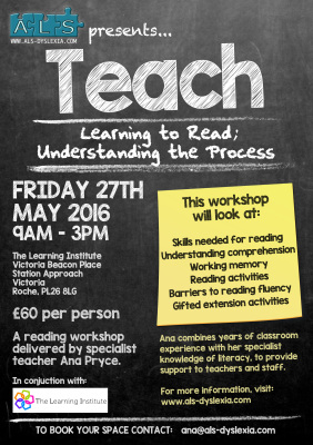 Workshop - Understanding the process of learning to read.