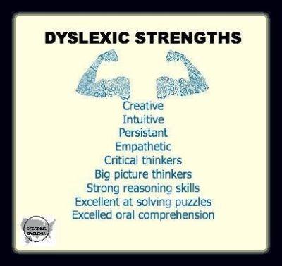 Utilising dyslexic strengths.