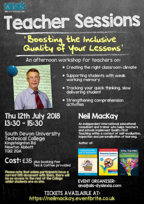 Neil MacKay in Devon: Boosting the Inclusive Quality of Your Lessons