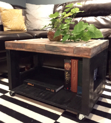 Rolling Storage Side Table