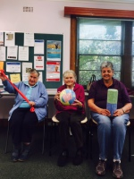 """The Cygnet """"Falls Prevention Group"""".  L - R  Shirley Flakemore, Betty Coad and Sybil White."""