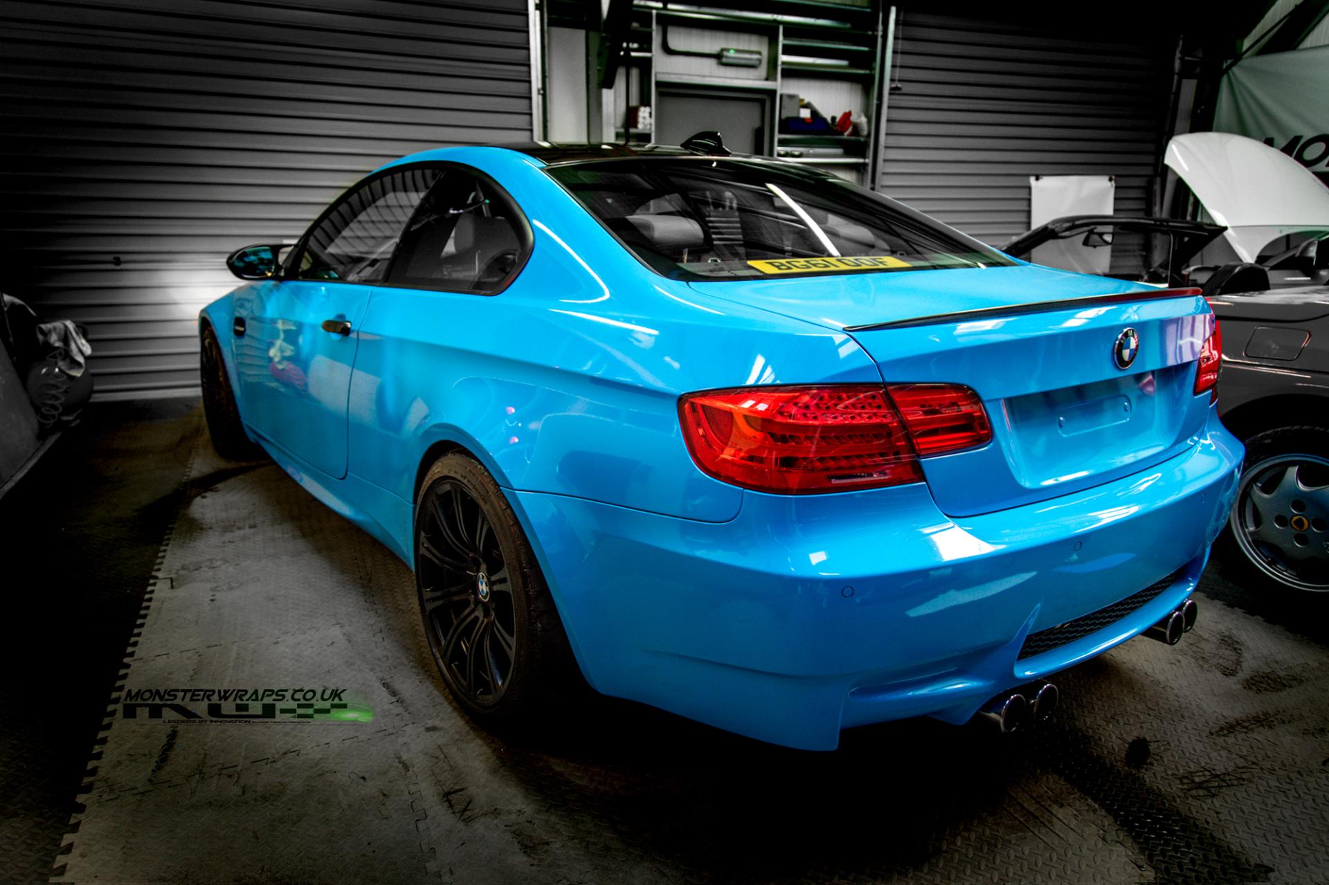 James Kingston BMW M3 Gloss sky blue wrap