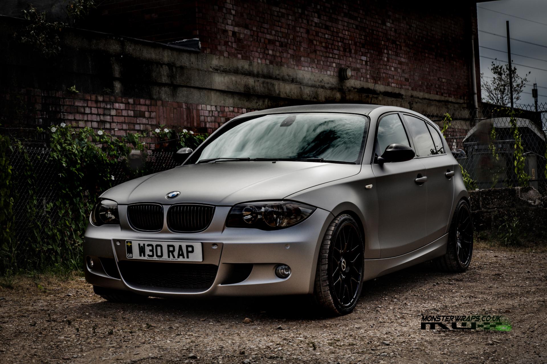 BMW 1 series e87 Matte grey aluminium wrap