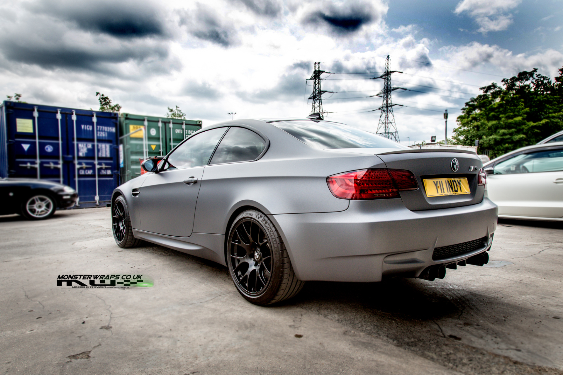 BMW M3 e92 Mate dark grey wrap