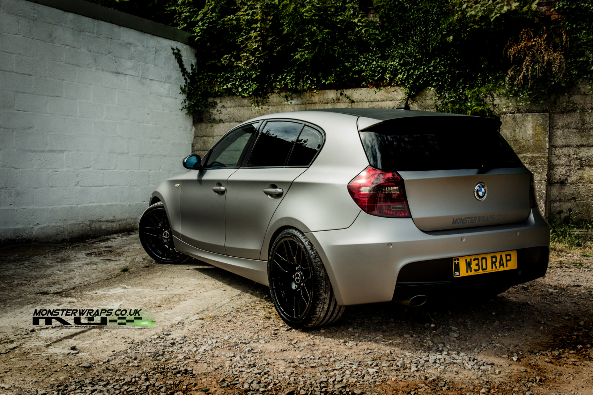 BMW 1 Series E87 Matte grey aluminium wrap 3M monsterwraps