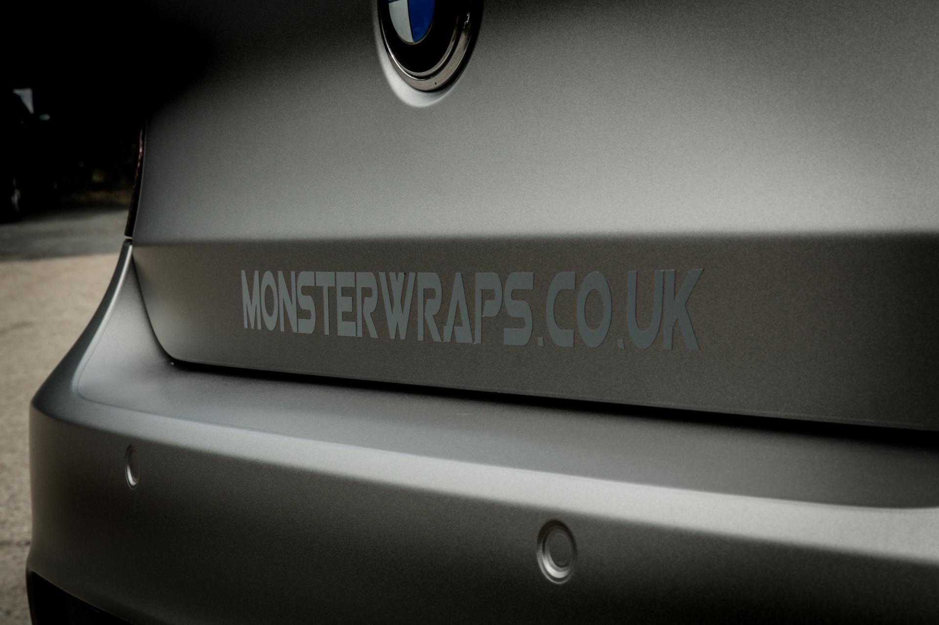 BMW 1 Series E87 Matte grey aluminium wrap 3M monsterwraps