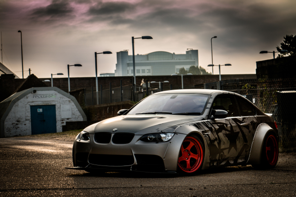 Liberty Walk BMW M3 e92 custom printed matte wrap 3M southampton