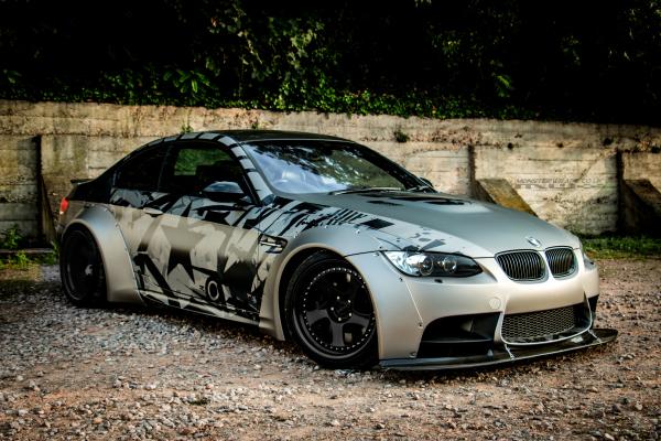 Liberty Walk BMW M3 e92 custom printed matte wrap 3M southampton