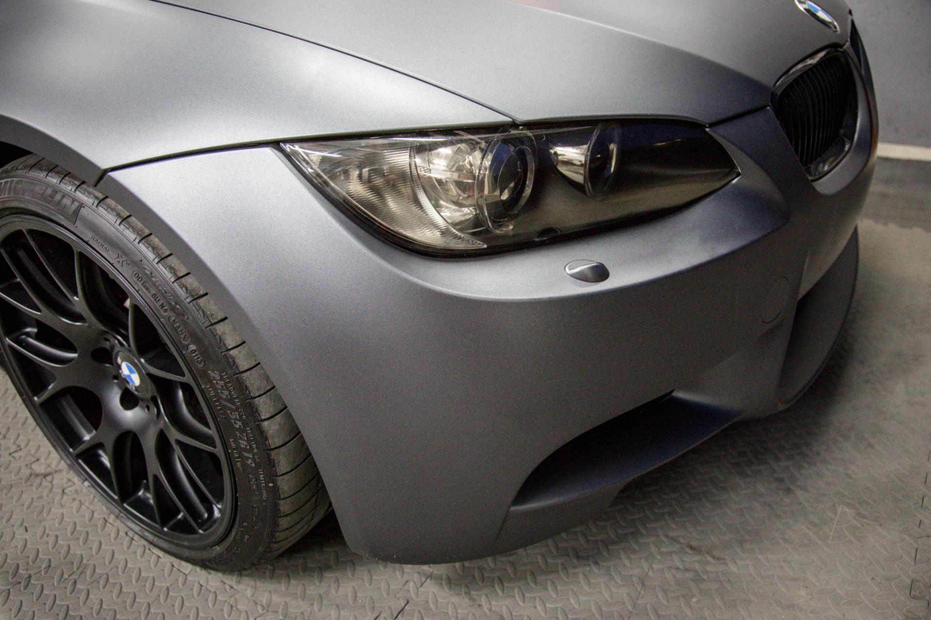 BMW M3 e90 Matte dark grey car wrap 3M monsterwraps southampton