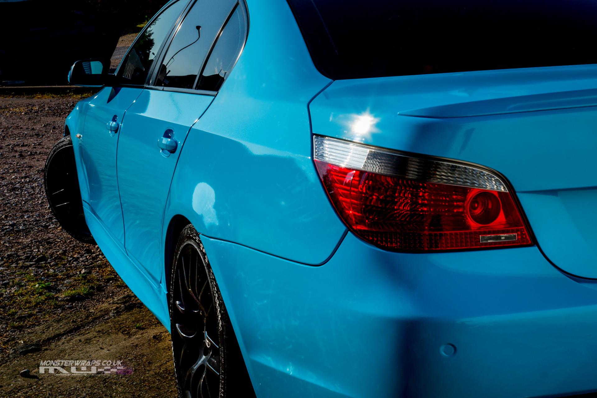 BMW 5 Series E60 3M 1080 Gloss sky blue wrap monsterwraps