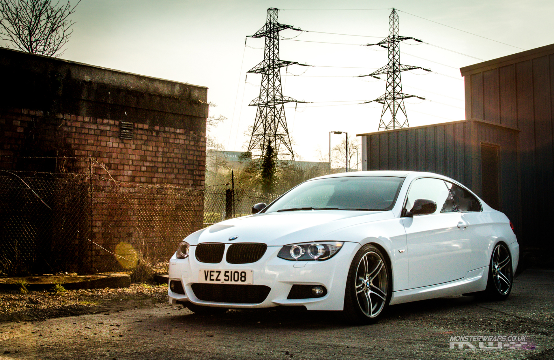BMW 3 series E92 gloss white wrap 3M 1080 monsterwraps