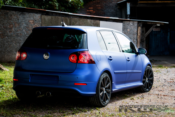 VW Golf R32 matte metallic brilliant blue car wrap 3M monsterwraps