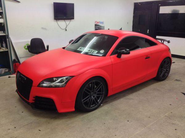 3M Matte hot rod red car wrap colour