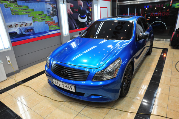 3M Gloss blue metallic car wrap