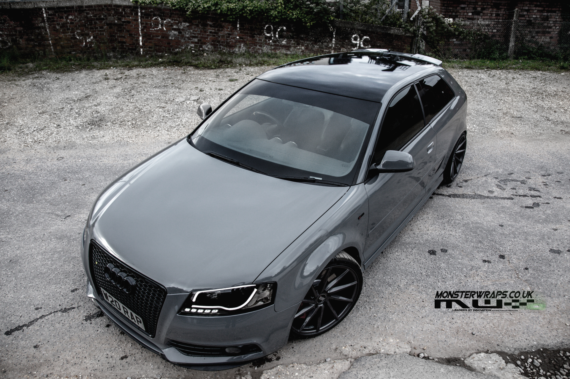 Audi A3 Stealth grey nardo grey gloss grey wrap