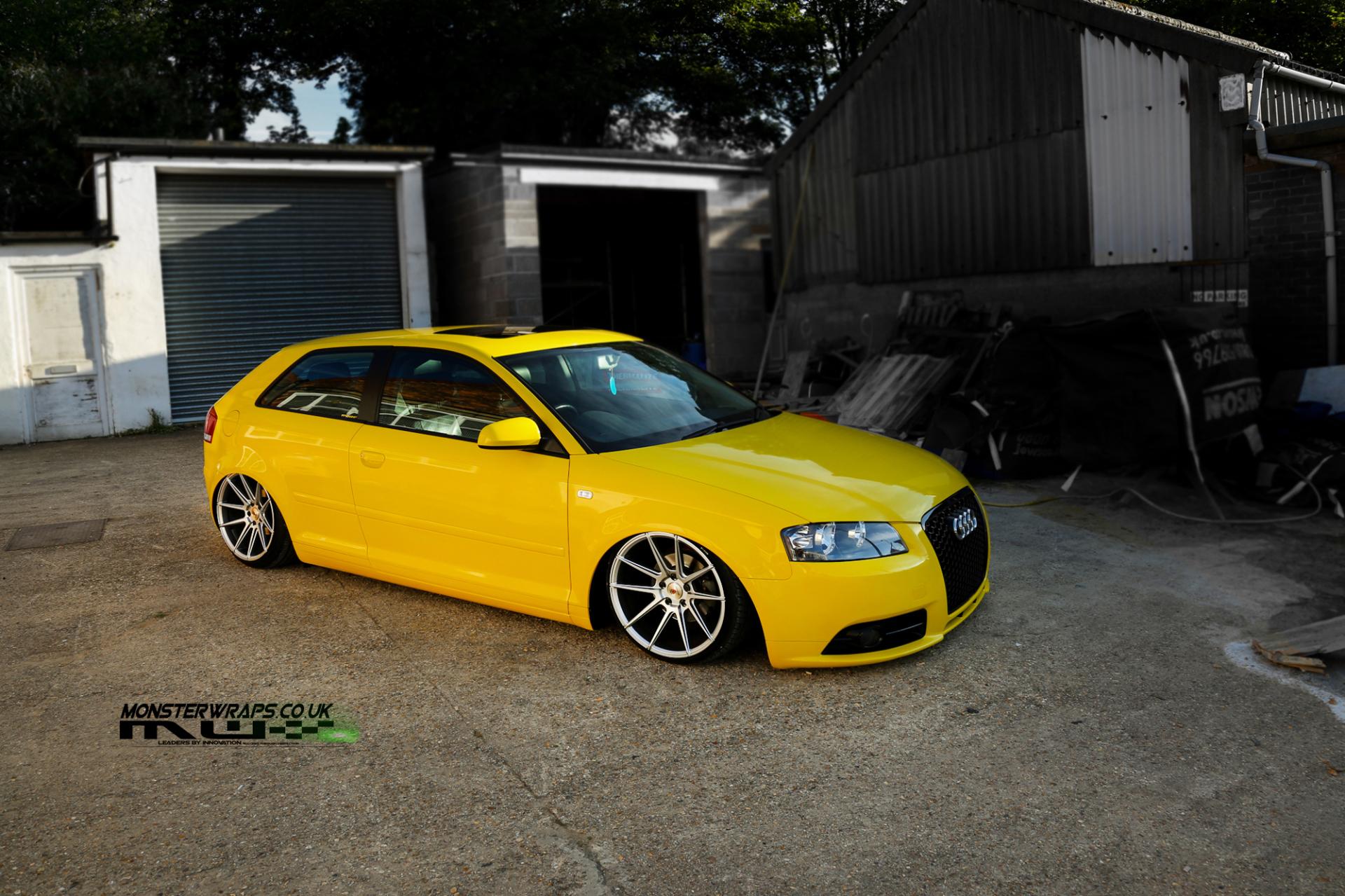 Audi A3 Gloss yellow wrap