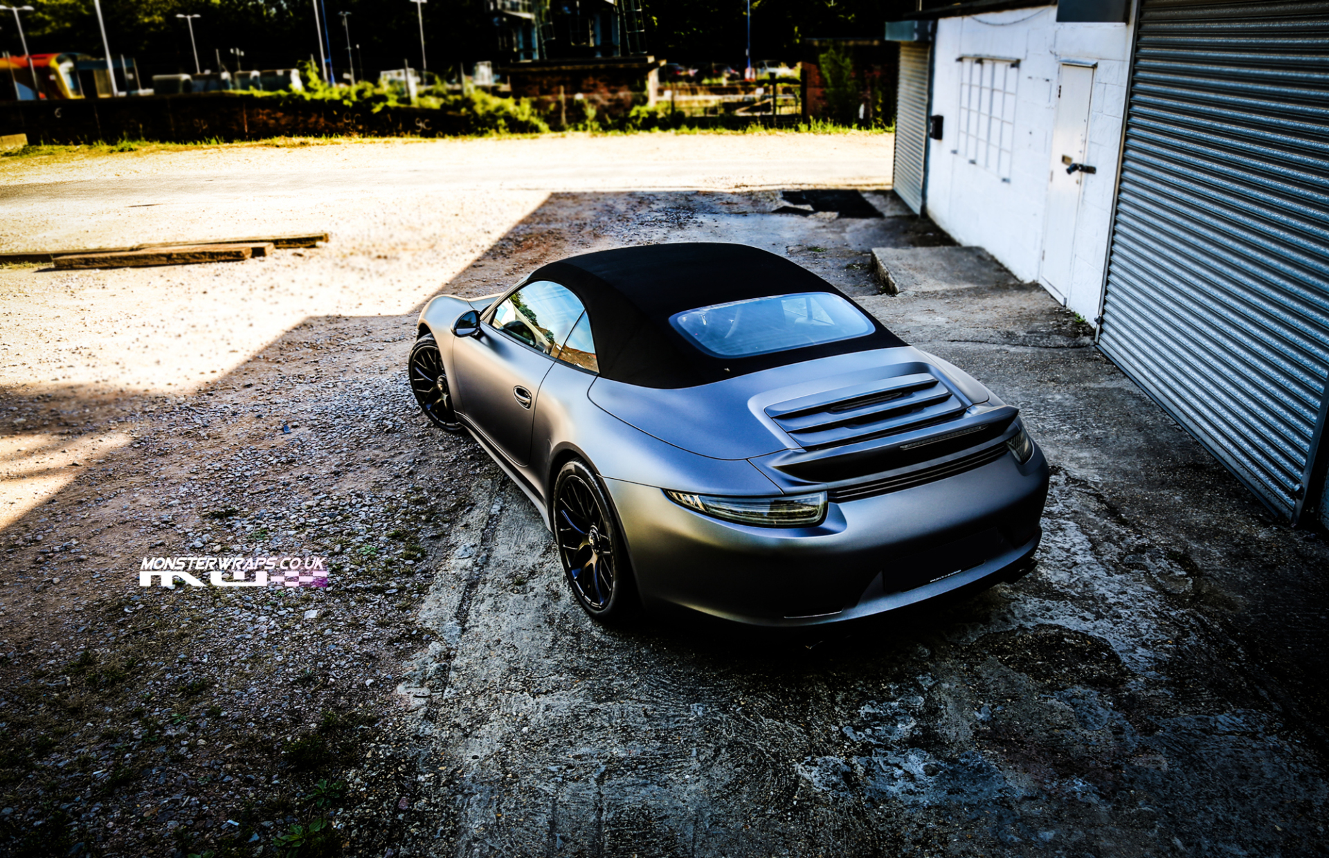 Porsche 911 GTS 3M Satin dark grey wrap
