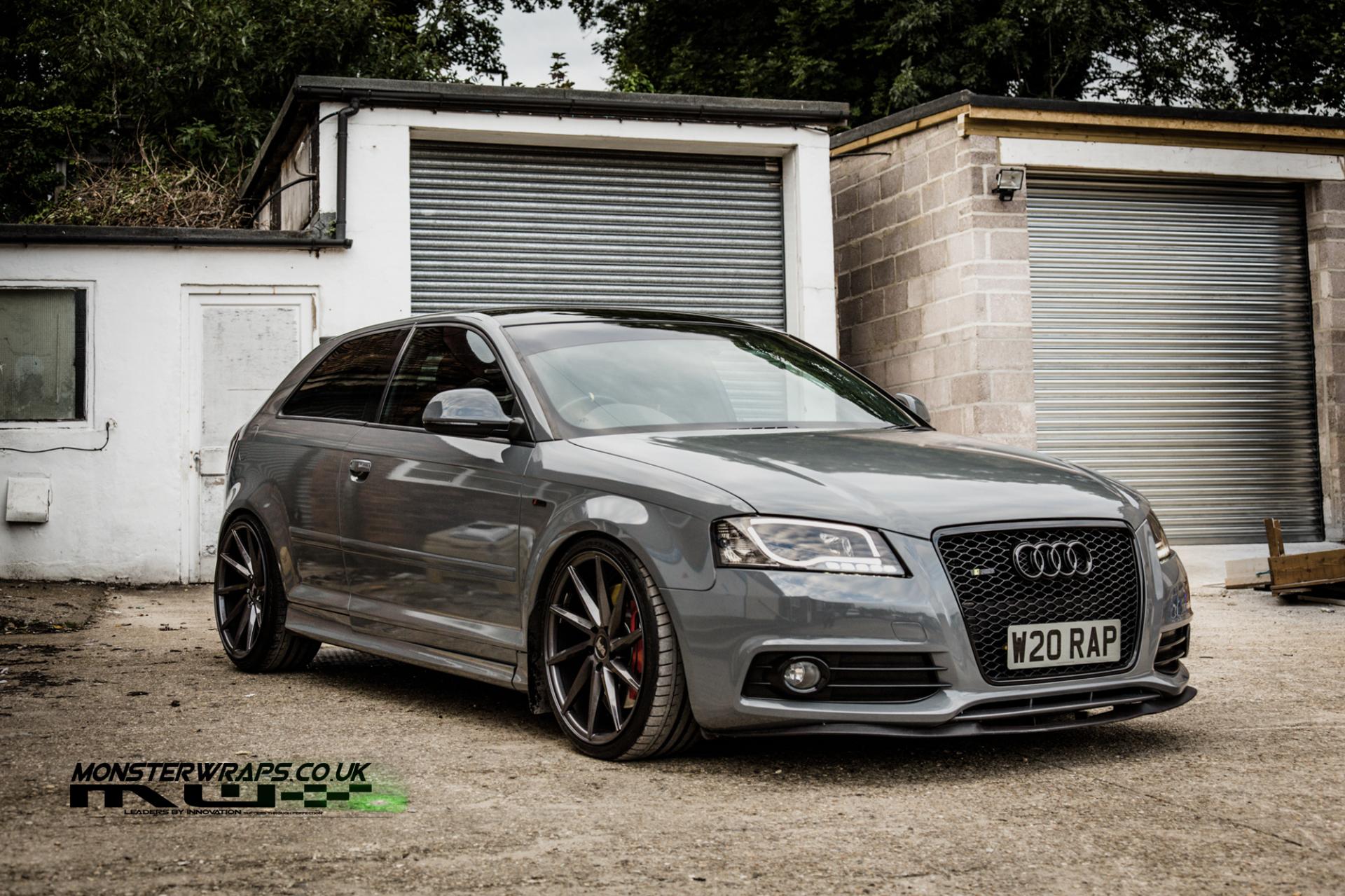 Audi A3 Gloss dark grey wrap