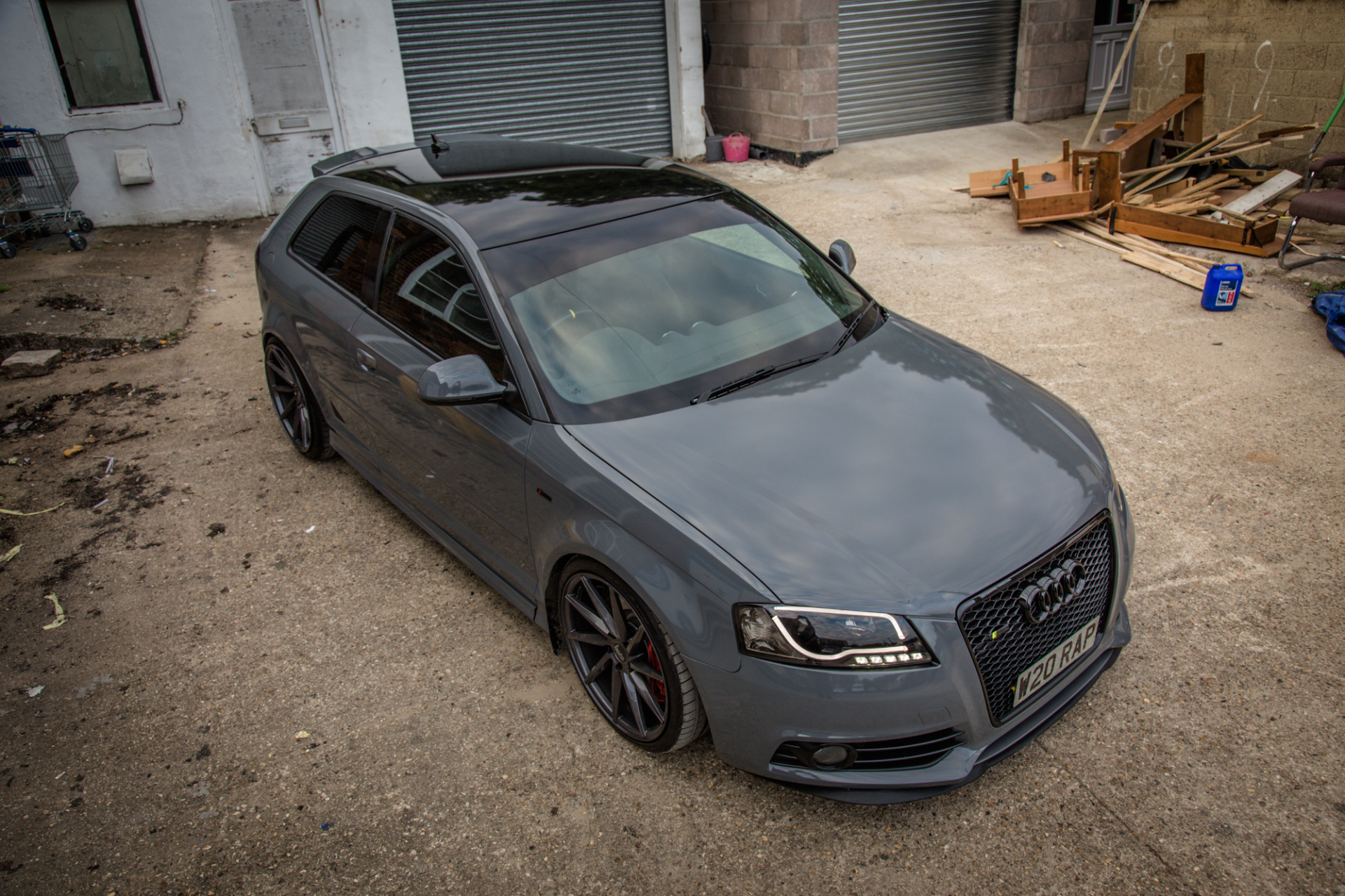 Audi A3 Gloss dark grey wrap