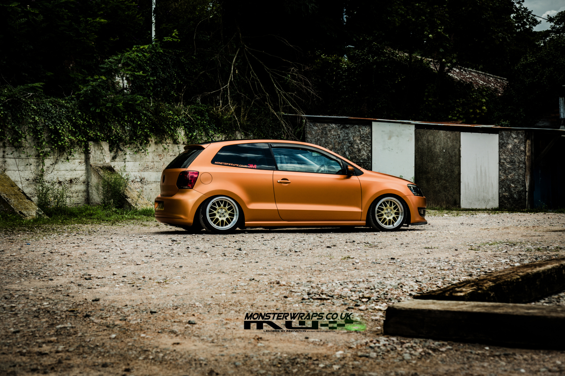 VW Polo 6R Satin Canyon Copper wrap