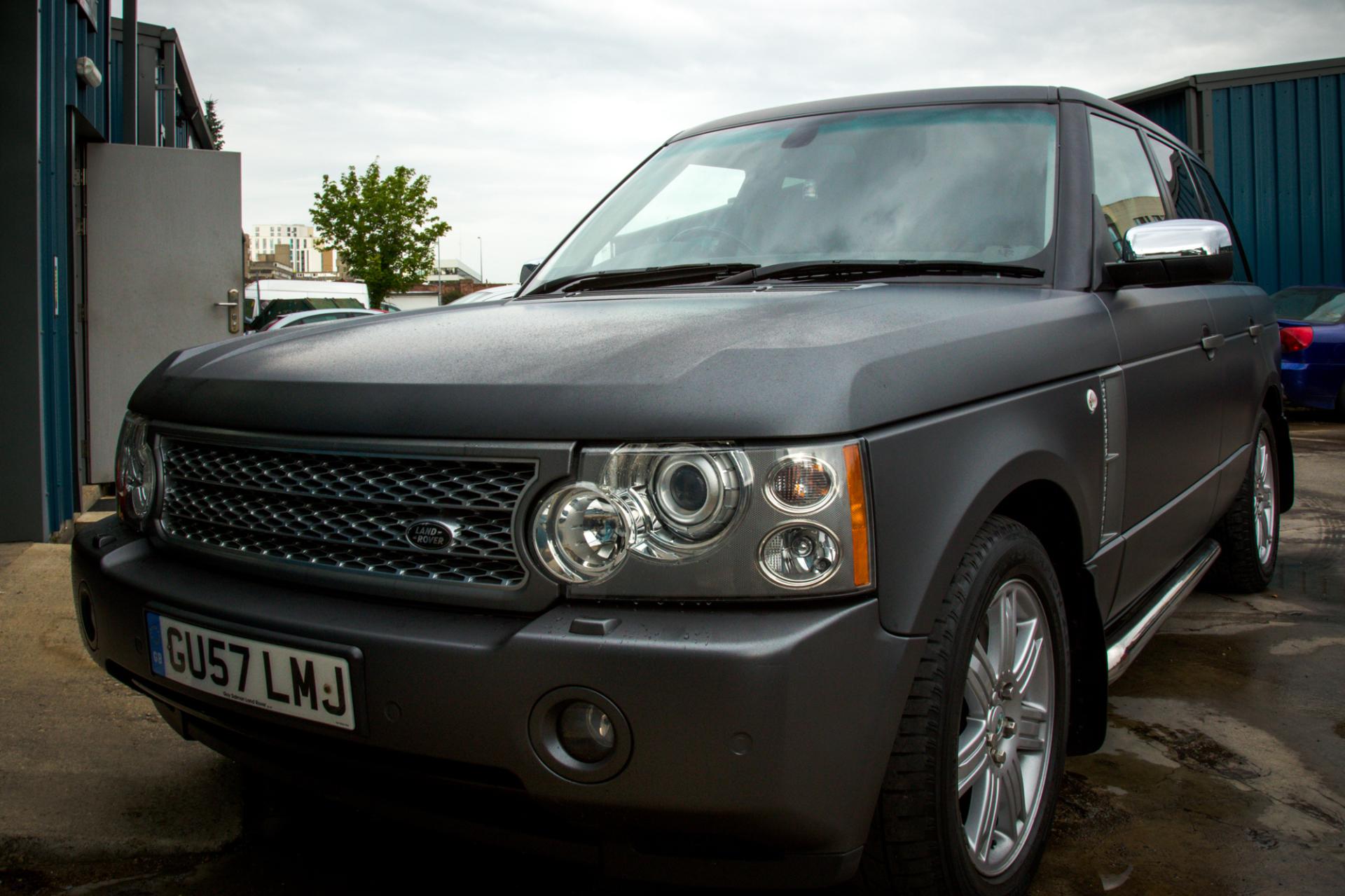 Range Rover Matte dark grey wrap