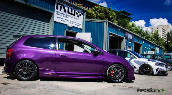 Honda Civic EP3 Type R Midnight purple wrap