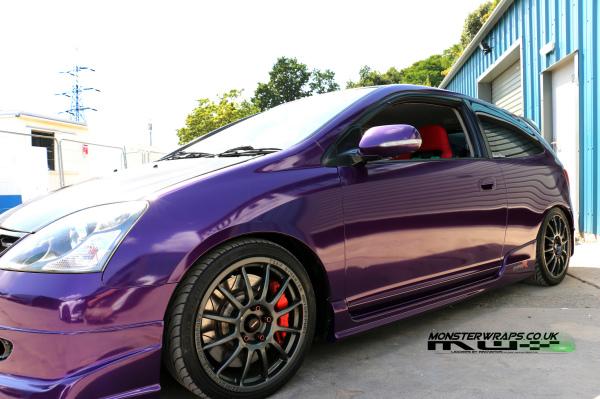 Honda Civic EP3 Midnight purple wrap