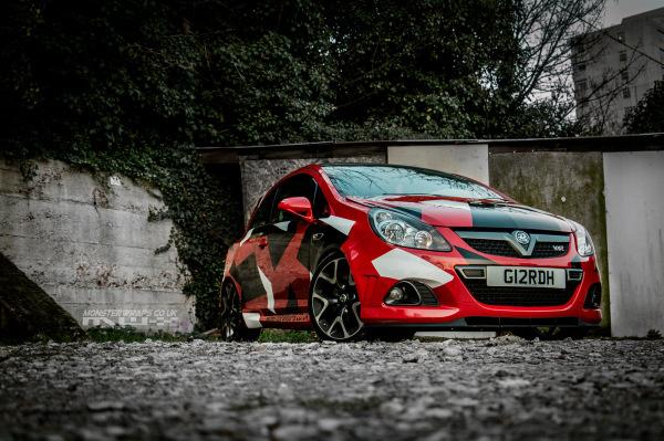 Corsa VXR Red camo wrap