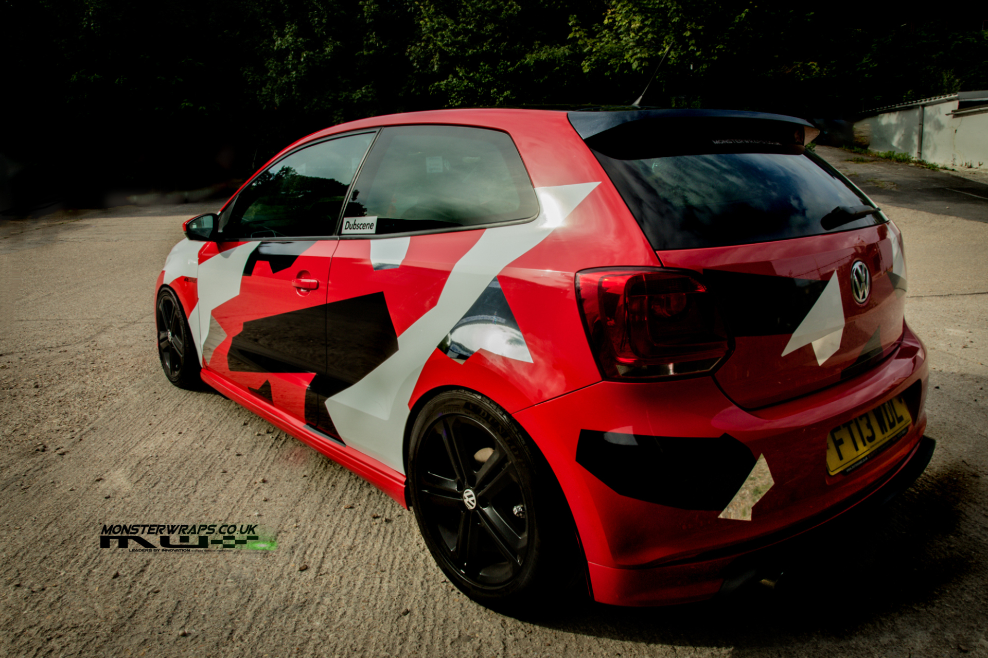VW Polo 6R Red camo wrap
