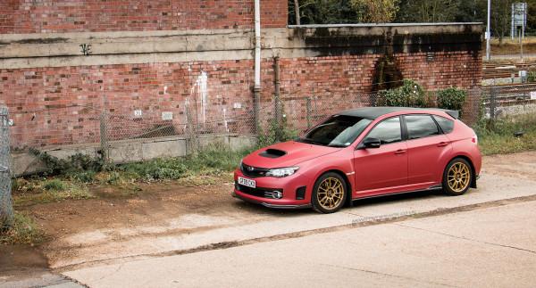 Subaru Impreza WRX Hatchback Matte red wrap